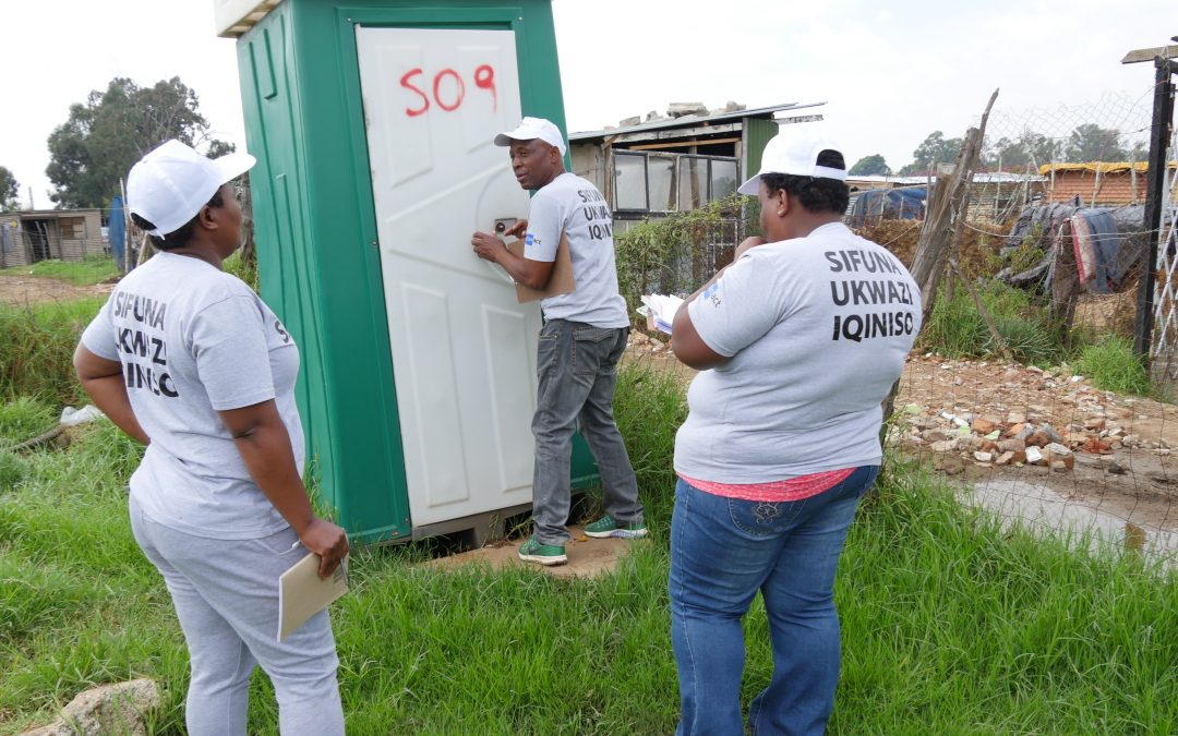 Scaled up social audit on sanitation in Ekurhuleni