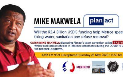 Kaya FM interview with our Senior Programme Coordinator Mike Makwela on #Asivikelane