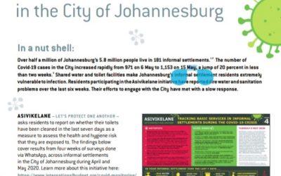 Asivikelane brief 1: Basic sanitation and Covid-19 in the city of Johannesburg 9